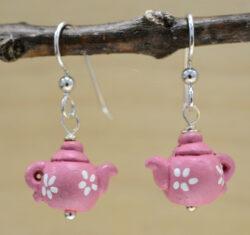 Pink Teapot earrings