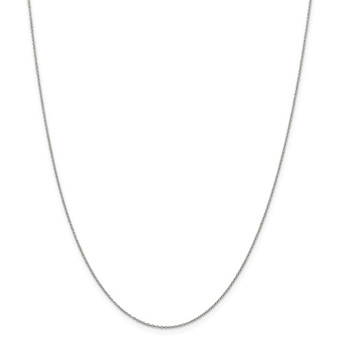 18 inch sterling silver thin cable chain