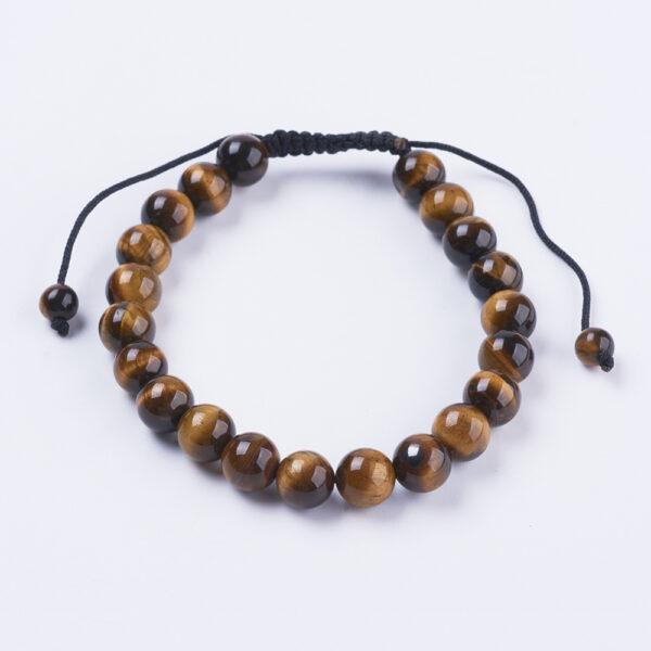 brown tiger's eye adjustable closure bracelet