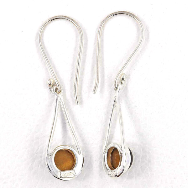 back of tiger's eye earrings