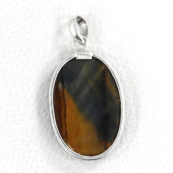 back of tiger's eye pendant