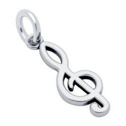 treble clef sterling silver music charm