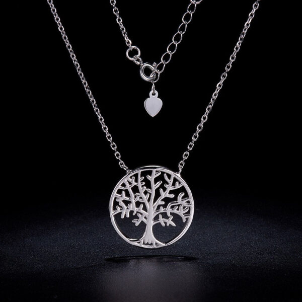 sterling silver tree of life necklace with adjustable clasp