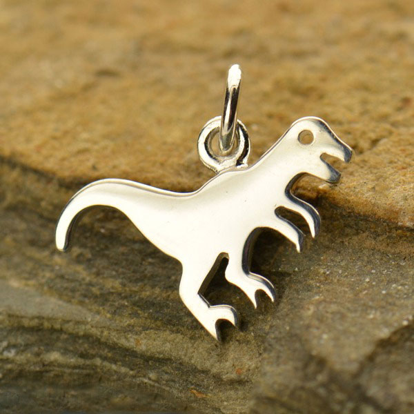 t-rex sterling silver dinosaur charm pendant