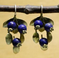 Michael Michaud Silver Seasons blueberry dangle earrings