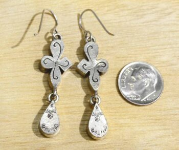 Patricia Locke Tryst Earrings in All Crystal Back w/ Dime