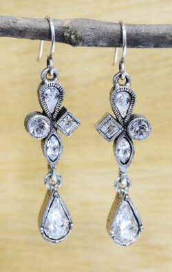 Hand Made Patricia Locke Tryst Earrings in All Crystal