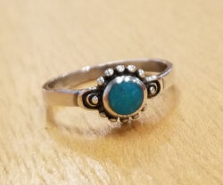 turquoise circle ring in size 6