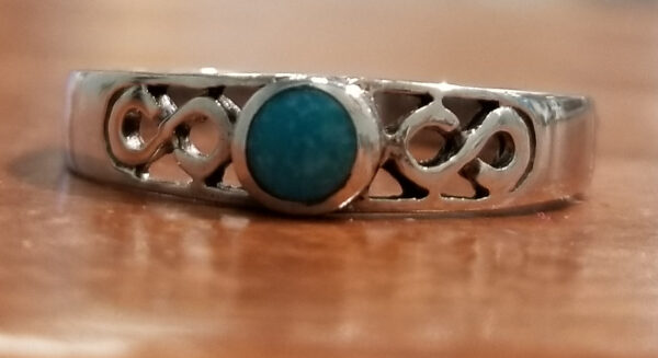 turquoise infinity silver ring