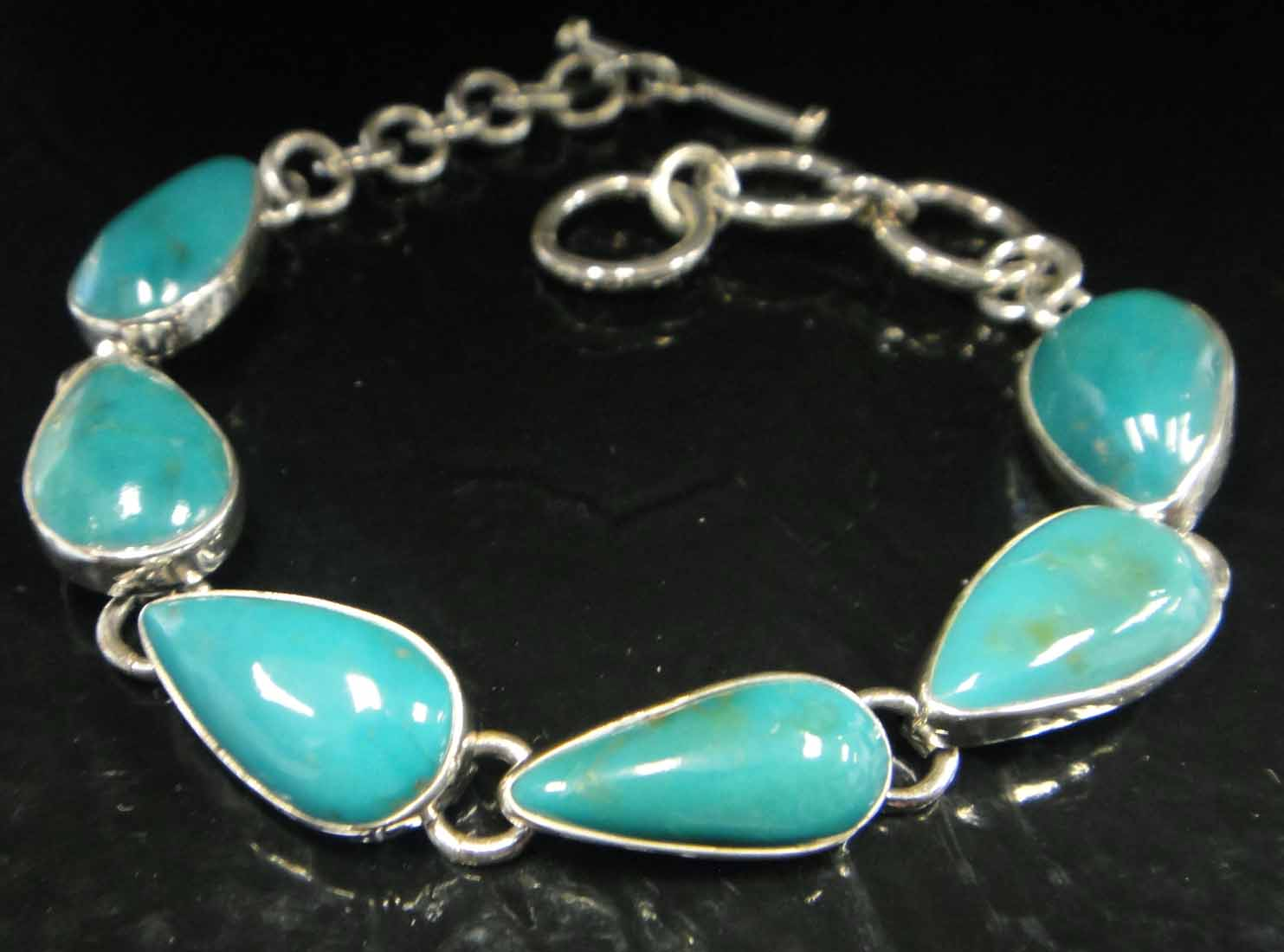 turquoise and sterling silver handmade bracelet