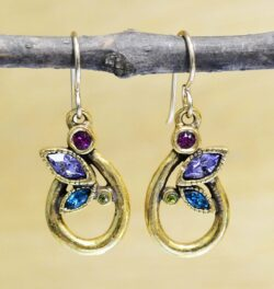 These drop earrings are handmade by Patricia Locke Jewelry. Patricia Locke names each style and this earring style is named Turtledove. These earrings feature Patricia Locke's color palette called Fling.