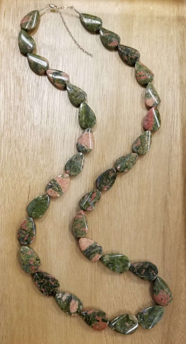 long unakite necklace