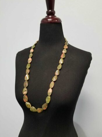 unakite long necklace