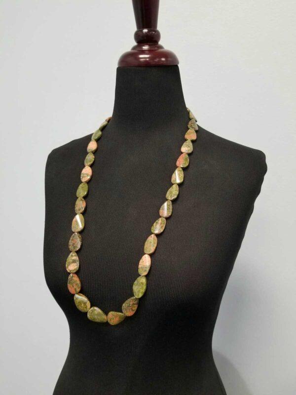 unakite long necklace