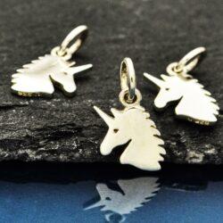 unicorn sterling silver charm