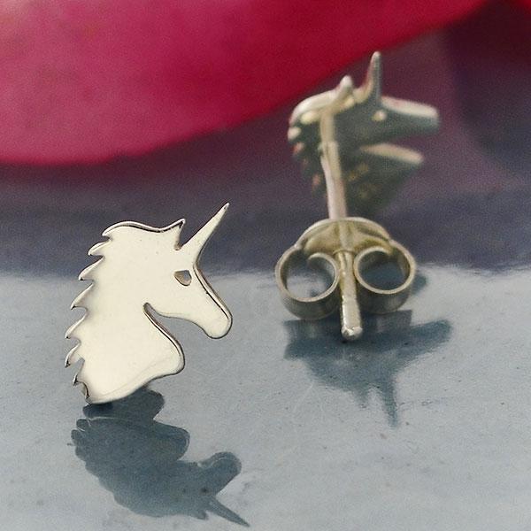 Unicorn sterling silver earrings