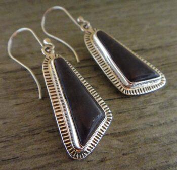 variscite sterling silver earrings
