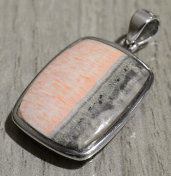 handmade barite rectangle pendant