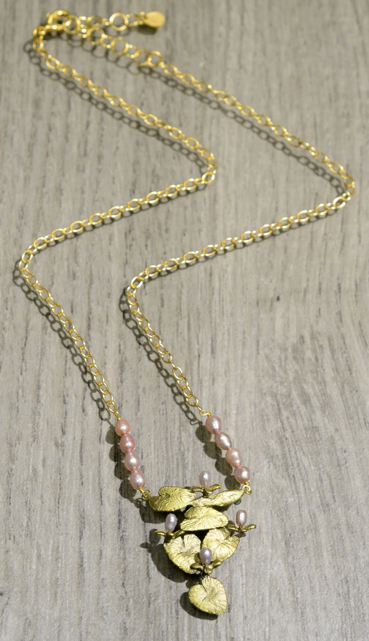 Michael Michaud Silver Seasons water lily necklace