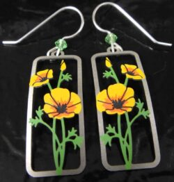 yellow flower blossom Sienna Sky dangle earrings