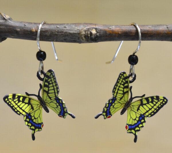 yellow swallowtail butterfly Sienna Sky earrings