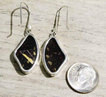 back of yellow swallowtail earrings