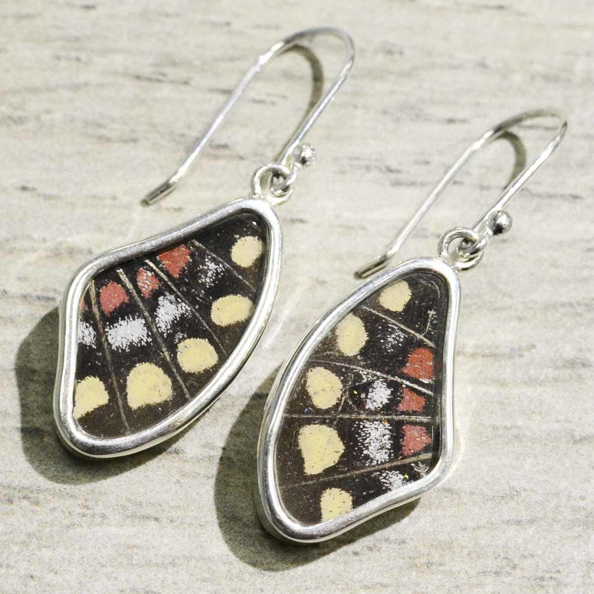 yellow swallowtail real butterfly wing earrings